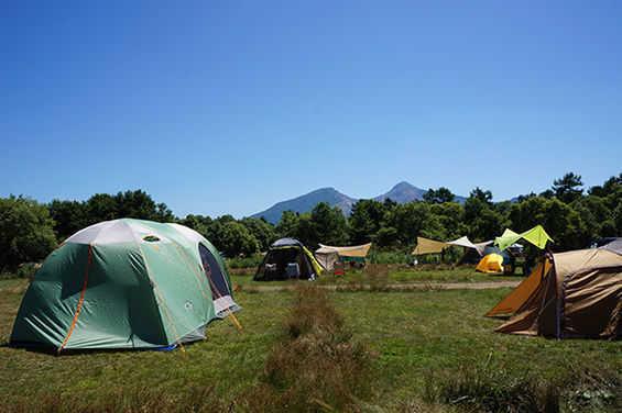 自然豊かな福島のキャンプ場