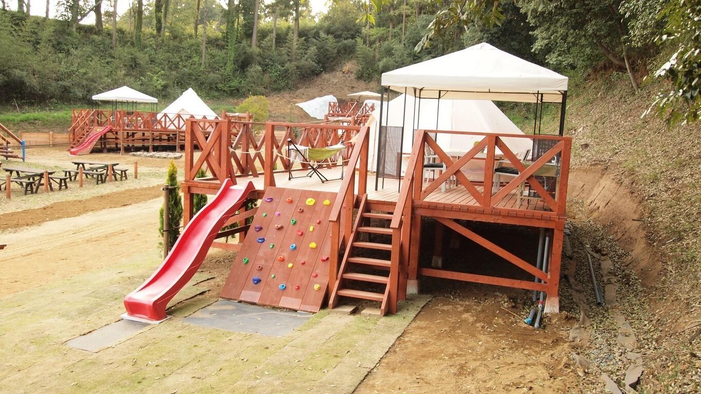 (New!)【CAMP】<アスレチック>1日3棟限定のアスレチックキャンプ! 画像