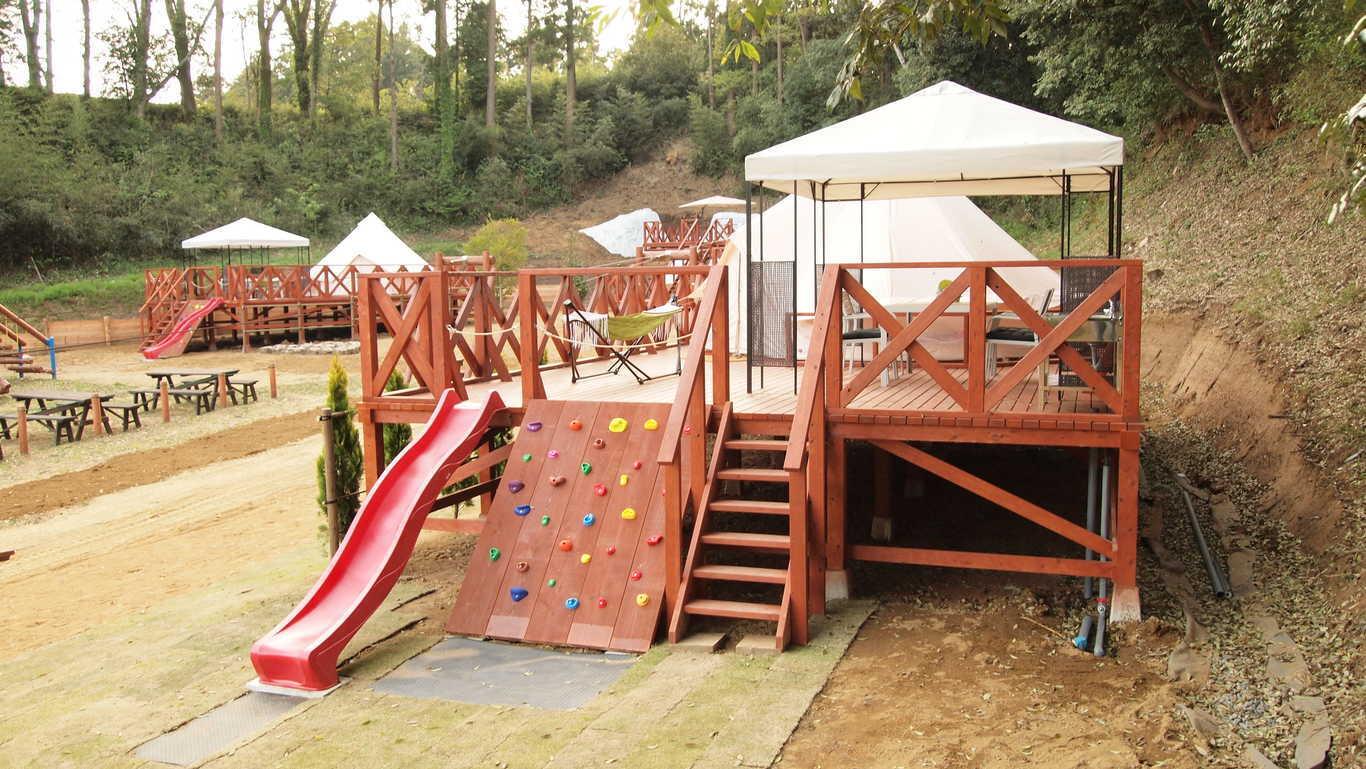 【CAMPアスレチック】1日3棟限定のアスレチックキャンプ! 画像