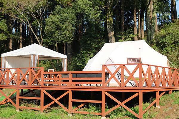 【CAMPファミリースイート】キャンプで唯一、5名まで宿泊可能なテントサイト! 画像