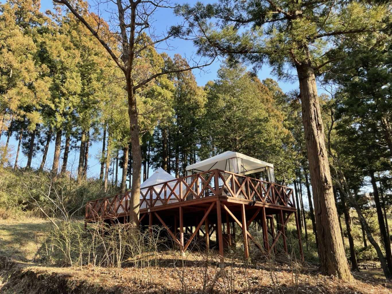 【~11月】【CAMPフォレスト】森の中に1日1組だけのプライベートサイトで過ごす豪華なキャンプ!! 画像