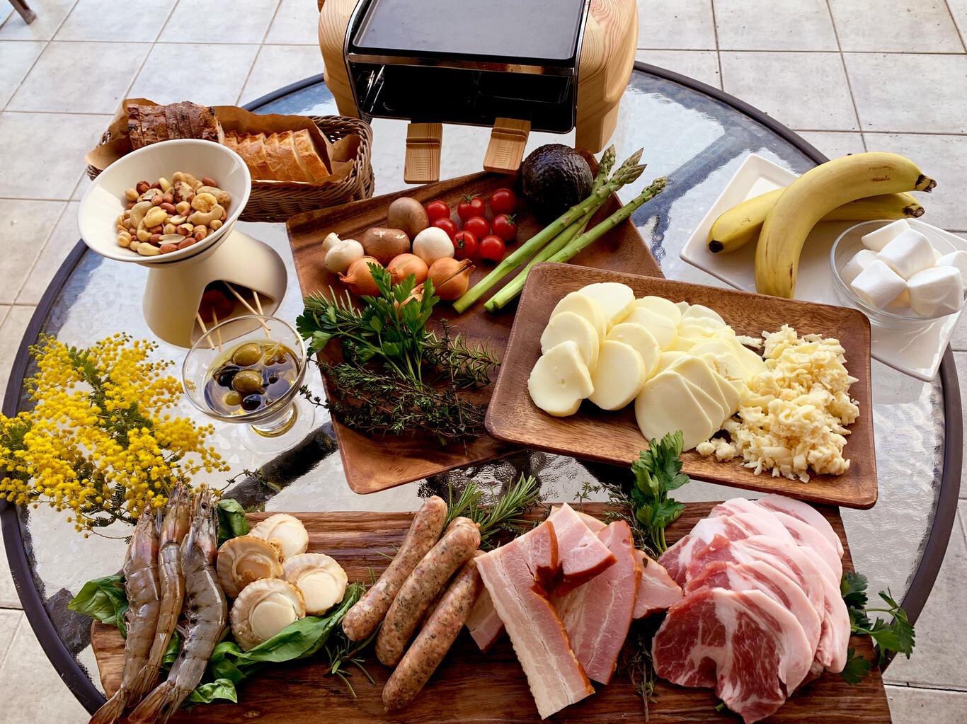 ラクレットチーズ&ワインプラン★プレミアムグランピング【1泊2食付】 画像