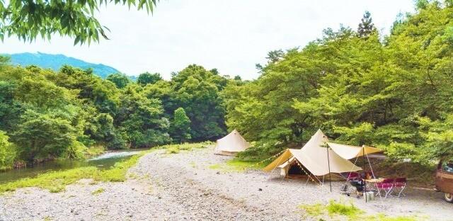 <手ぶらランチBBQ:3h制> リバーサイドキャンプときがわ グランピングテント 画像