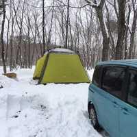 雪中キャンプ ちゃんと除雪しておいてくれました