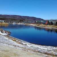 湖全体風景