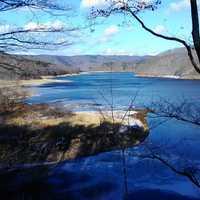 これは 羽鳥湖です 大きいです。