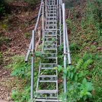 最後のきつい階段