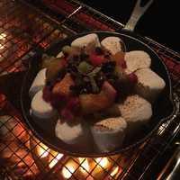 デザートのマシュマロ焼き。