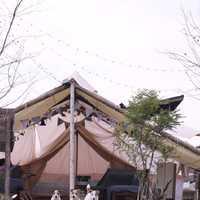 nordiskのテント前