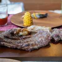 夕食の深谷牛ステーキ