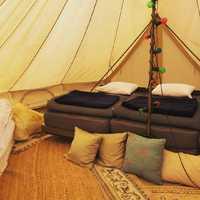 テントの中も暖かくて文句なし