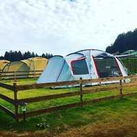農園の中のキャンプサイト