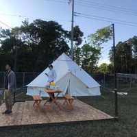 宿泊したテント