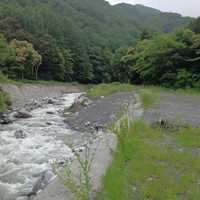 小黒川が濁流となっています!