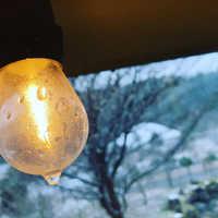 ランプから見る冬景色